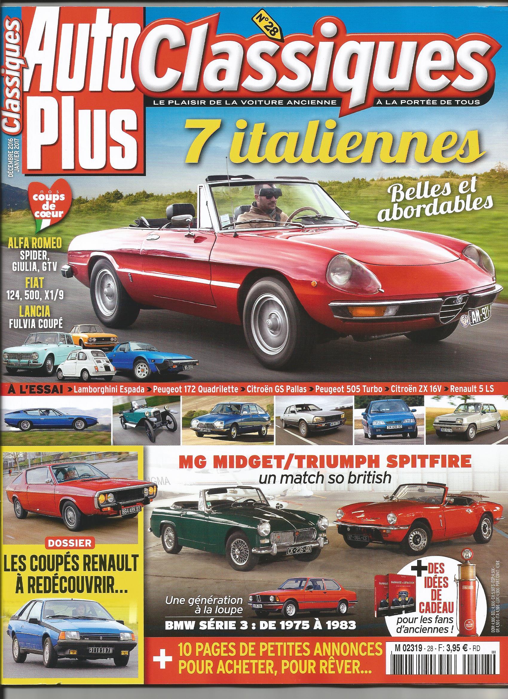 magazine auto plus classiques l 39 univers automobile forum alfa romeo online. Black Bedroom Furniture Sets. Home Design Ideas